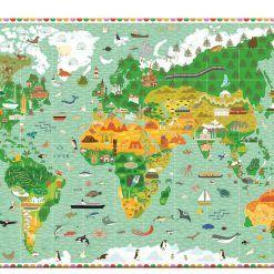Puzzle Budowle świata z książeczką