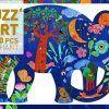Puzzle artystyczne Słoń