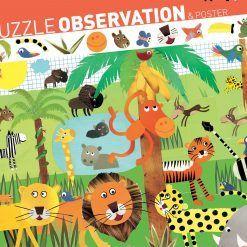 Puzzle obserwacja Dżungla