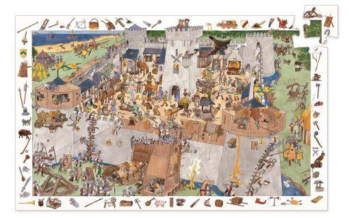 Puzzle obserwacja Oblężony zamek