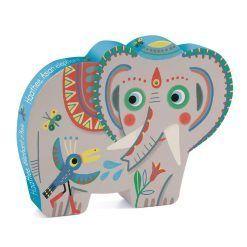Puzzle w pudełku Słoń azjatycki