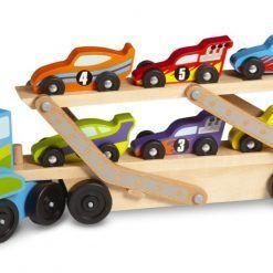 Ciężarówka z wyścigówkami
