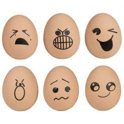 Piłeczka jajko zestaw 6 sztuk
