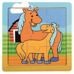 Puzzle dla dzieci Farmino Koniki