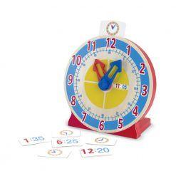 Zegar z kartami do nauki godzin