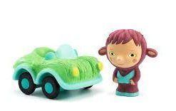 Figurka z samochodem Bolidachou