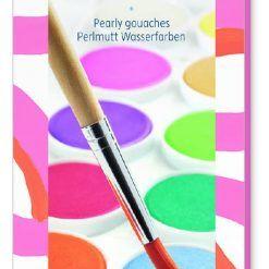 Farby gwaszowe 12 kolorów perłowych