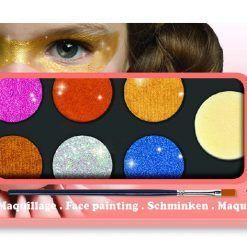 Farby do malowania twarzy Metallic