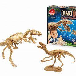 Mały archeolog szkielety dinozaurów