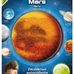 Planeta świecąca w ciemnościach Mars