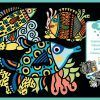 Welurowa kolorowanka Piękne rybki