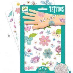 Tatuaże brokatowe Kwiaty