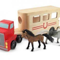 Ciężarówka z przyczepą dla koni