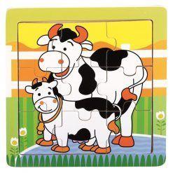 Puzzle dla dziecka Farmino Krówki