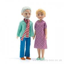 Figurki Dziadek i babcia