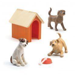 Figurki Psy z budą