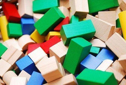Klocki konstrukcyjne 50 sztuk kolorowe