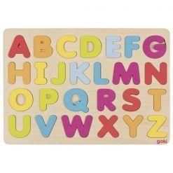 Puzzle kolorowy alfabet do nauki