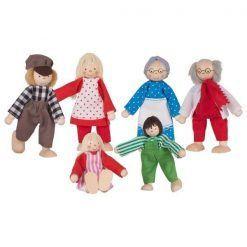 Rodzinka farmera drewniane lalki