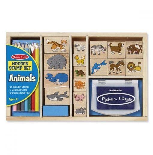 Stempelki drewniane Animals