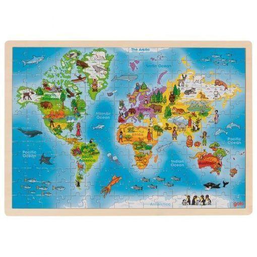 Układanka edukacyjna Mapa Świata