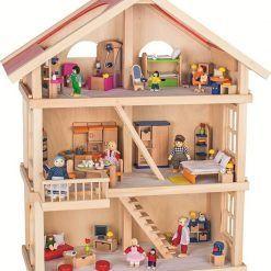 Trzypiętrowy domek dla lalek