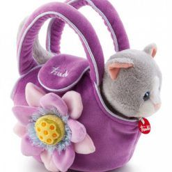 Kotek w fioletowej torebce