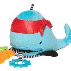Niebieski wieloryb z gryzakami