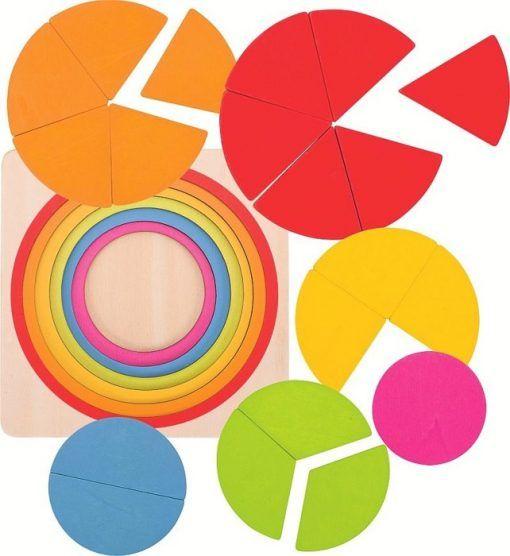 Puzzle warstwowe Tęczowe koło