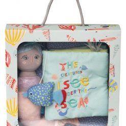 Miękka książeczka i lalka Syrenka