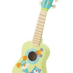 Gitara drewniana Pastelowe zwierzaki