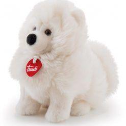 Pluszowy biały piesek Samoyed