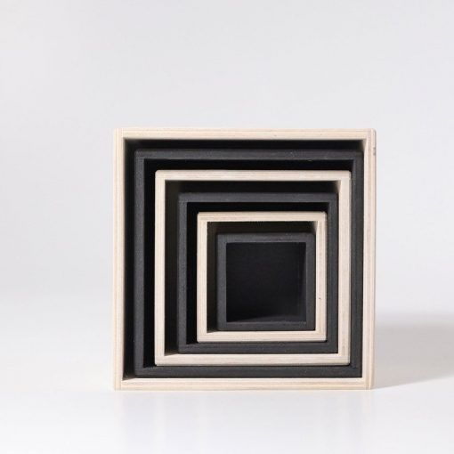 Pudełka 6 szt. monochromatyczne