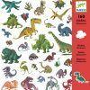 Zestaw 160 naklejek Dinozaury