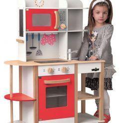 Duża kuchnia czerwona