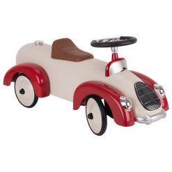 Jeździk wyścigowy kremowy z błotnikami