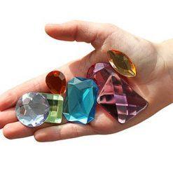 Kryształy dekoracyjne 28 szt.