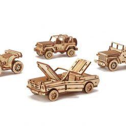 Mechaniczne puzzle 3D – kolekcjonerski zestaw samochodów Wood Trick