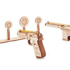 Mechaniczne puzzle 3D – zestaw pistoletów ze strzelnicą