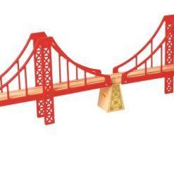 Most wiszący podwójny do kolejek drewnianych
