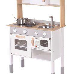 Kuchnia drewniana szara