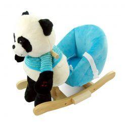 Panda na biegunach z niebieskim fotelikiem – nowa konstrukcja