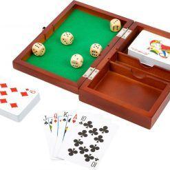 Pudełko do gry w karty i kości