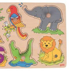Puzzle dźwiękowe Dzikie Zwierzęta