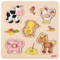 Puzzle zwierzątka farma