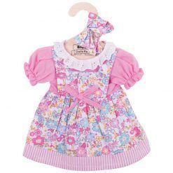 Sukienka dla lalki w kwiatki