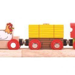 Pociąg farma kolejka drewniana