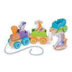 Pociąg rozbrykana ferajna – zabawka do ciągnięcia