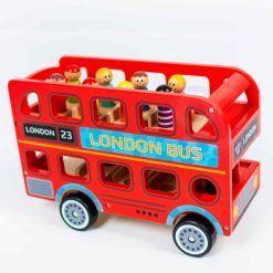 Drewniana Zabawka Autobus