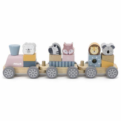Kolejka z wagonikami do ciągnięcia